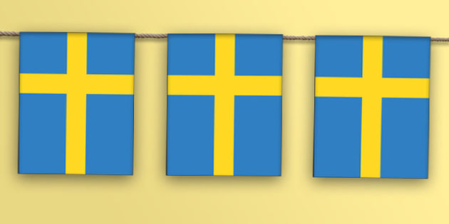 Sweden Flag Bunting - sweden flag, bunting, display bunting, display, sweden, swedish, flag