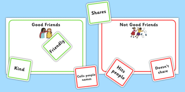 Characteristics Of A Good Friend Game Colour Coded - ourselves