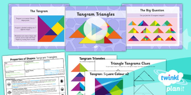 PlanIt Y3 Properties of Shape SolveIt Lesson Pack  - PlanIt, Properties of Shapes, SolveIt, problem solving, using and applying, tangrams