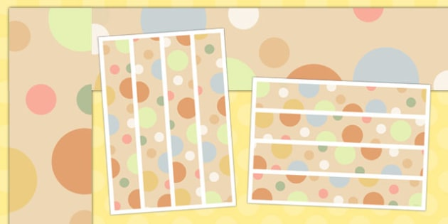 Neutral Polka Dot Display Border - display border, display, border