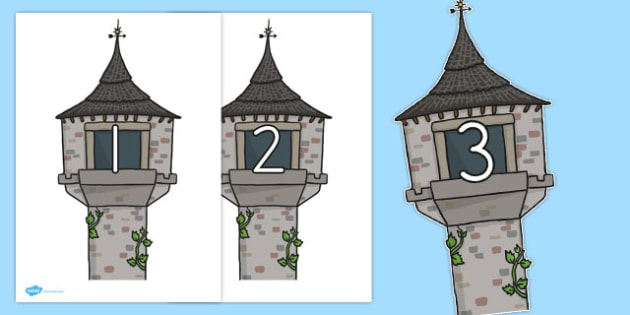 Rapunzel 0-20 on Towers - australia, rapunzel, towers, numbers