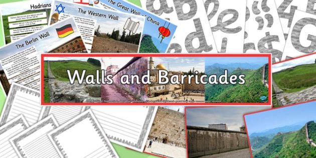 Walls and Barricades Display Pack - walls, barricades, display pack