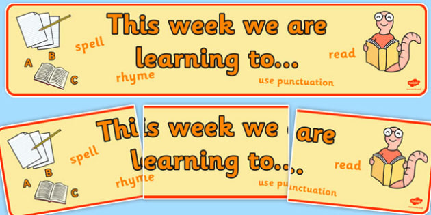 This Week We Are Learning To Display Banner - display banner, this week, learning, display
