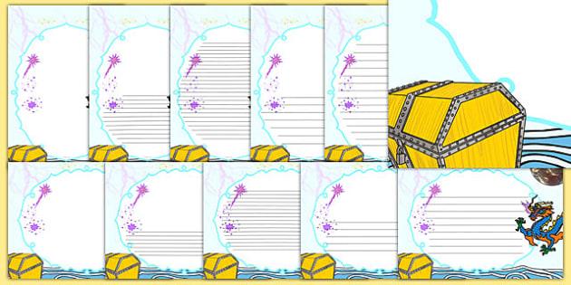 The Magic Box Page Borders - magic box, page borders, page, borders, magic, box