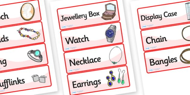 Jewellery Shop Role Play Labels - jewellery, shop, role, play, labels, role play, jewellery shop labels, role play labels, jewellery shop, jewels