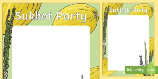 Sukkot Party Poster Activity