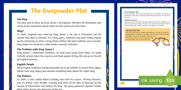 KS2 The Gunpowder Plot Fact File
