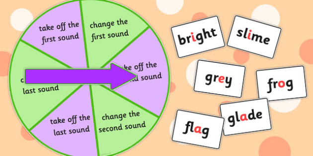 Phoneme Manipulation Spinner Game Blends - games, activities