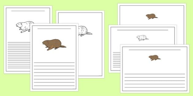 Groundhog Writing Templates - groundhog day, groundhog, tradition, celebration, writing templates