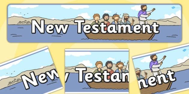 New Testament Display Banner - new testament, display banner