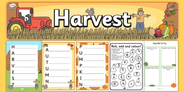 KS1 Harvest Teaching Pack - ks1, harvest, teaching pack, pack