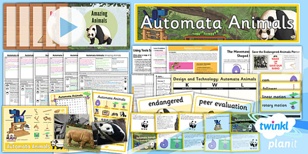 PlanIt - Design and Technology UKS2 - Automata Animals Unit Pack - planit, design and technology, dt, uks2, automata animals, unit pack