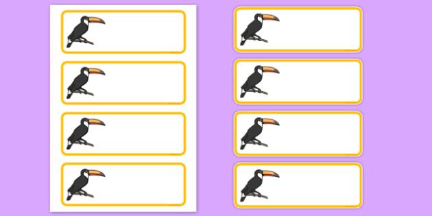 Toucan Editable Drawer Peg Name Labels - toucan, editable, drawer, peg, name, labels, display