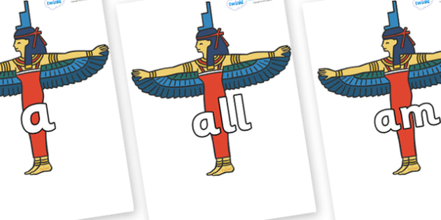 Foundation Stage 2 Keywords on Egyptians - FS2, CLL, keywords, Communication language and literacy,  Display, Key words, high frequency words, foundation stage literacy, DfES Letters and Sounds, Letters and Sounds, spelling