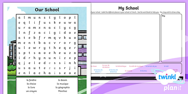 PlanIt - French Year 3 - Our School Home Learning Tasks-French