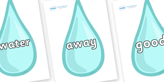 Next 200 Common Words on Water Droplets - Next 200 Common Words on  - DfES Letters and Sounds, Letters and Sounds, Letters and sounds words, Common words, 200 common words