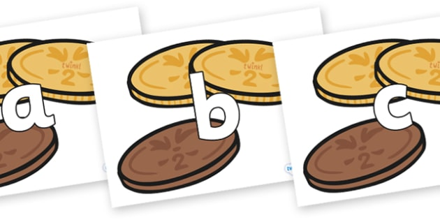 Phoneme Set on Chocolate Coins - Phoneme set, phonemes, phoneme, Letters and Sounds, DfES, display, Phase 1, Phase 2, Phase 3, Phase 5, Foundation, Literacy