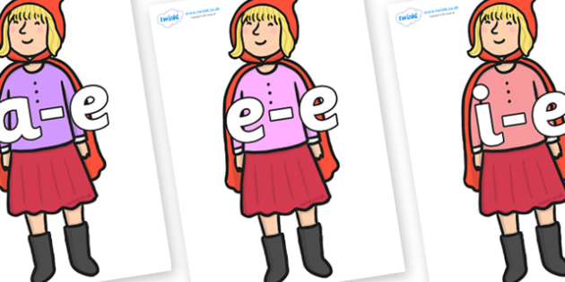 Modifying E Letters on Red Riding Hood to Support Teaching on The Jolly Christmas Postman - Modifying E, letters, modify, Phase 5, Phase five, alternative spellings for phonemes, DfES letters and Sounds