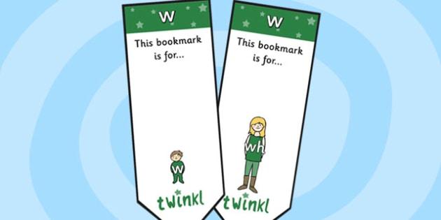 w Sound Family Editable Bookmarks - w sound family, editable bookmarks, bookmarks, editable, behaviour management, classroom management, rewards, awards