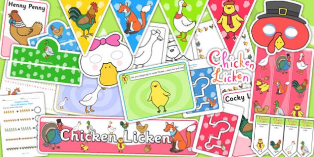 Chicken Licken Resource Pack - story books, stories, story pack