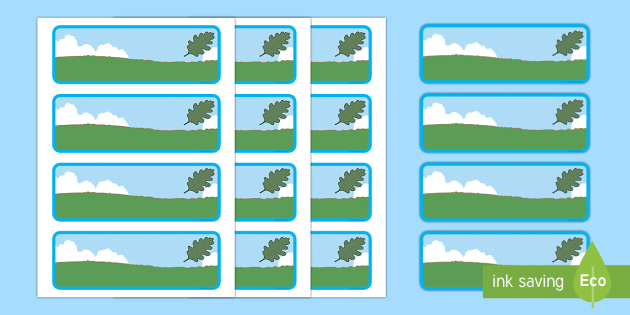 Oak Tree Themed Editable Drawer-Peg-Name Labels (Colourful) - Themed Classroom Label Templates, Resource Labels, Name Labels, Editable Labels, Drawer Labels, Coat Peg Labels, Peg Label, KS1 Labels, Foundation Labels, Foundation Stage Labels, Teaching