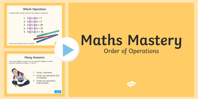 Year 6 Calculation Order of Operations Maths Mastery Activities
