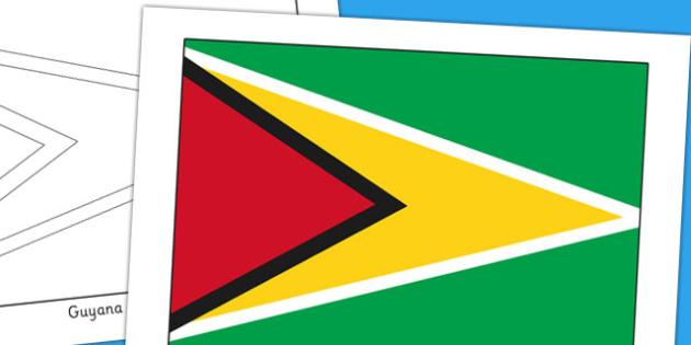 Guyana Flag Display Poster - geography, countries, display