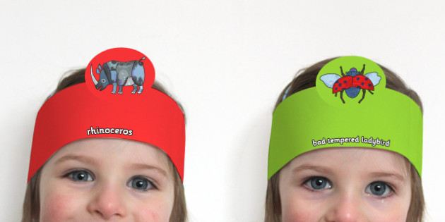 Role Play Headband to Support Teaching on The Bad Tempered Ladybird - roleplay, props