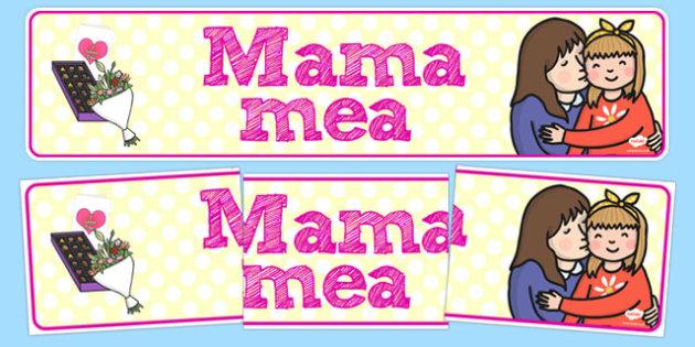 Banner, Mama mea - ziua, mamei, activitate, martie, 8