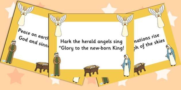 Hark the Herald Angels Sing Lyrics PowerPoint - christmas, lyrics