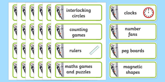 Woodpecker Themed Maths Area Word Cards - woodpecker, maths area, word cards, maths, area