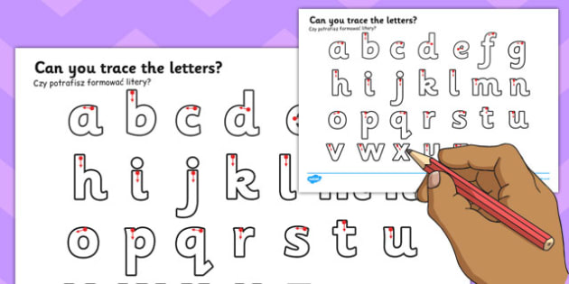 Letter Writing Worksheet Polish Translation - writing, english, fine motor skills, presentation, KS1, key stage 1