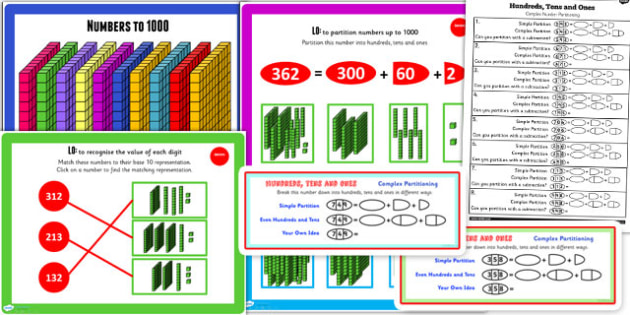Year 3 Numbers to 1000 Lesson 2 Teaching Pack - teaching pack