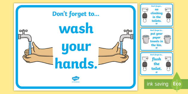 Good Behaviour Toilet Signs - Toilet Area Sign, Classroom Area Signs, KS1, Banner, wash hands, flush toilet, flush the toilet,  toilet, toilets, boys, girls, Foundation Stage Area Signs, Classroom labels, Area labels, Area Signs, Classroom Areas, Pos
