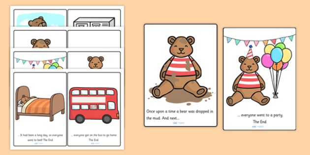 Bears What Next Story Cards - bears, animals, story, story cards