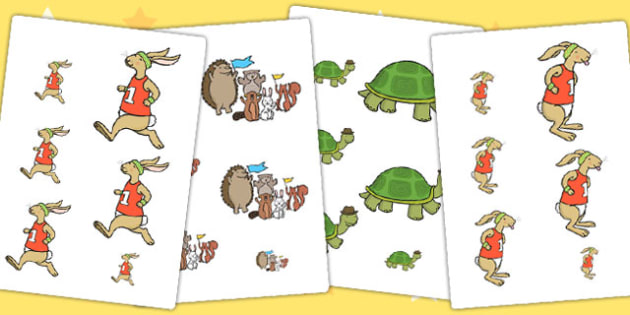 The Tortoise and The Hare Size Ordering - sizes, shape, order
