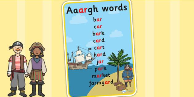 Aaargh Words Poster - vocab, tricky words, display, literacy
