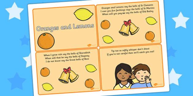 Oranges and Lemons Sequencing Cards - Oranges, Lemon, Fruit