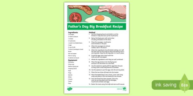 Australia Father's Day Big Breakfast Recipe-Australia