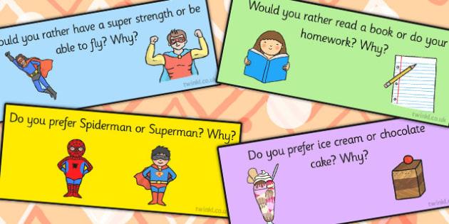 Question Cards For Conversation Practice - SEN, communication