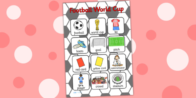 Football World Cup Vocabulary Poster - football, world cup, sport