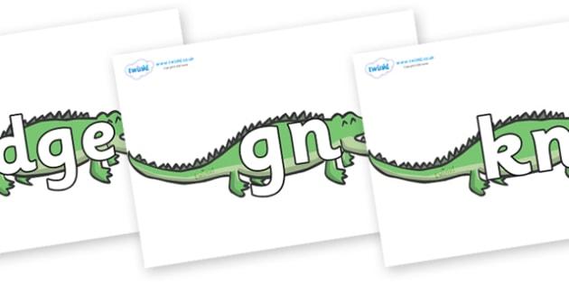 Silent Letters on Crocodiles - Silent Letters, silent letter, letter blend, consonant, consonants, digraph, trigraph, A-Z letters, literacy, alphabet, letters, alternative sounds