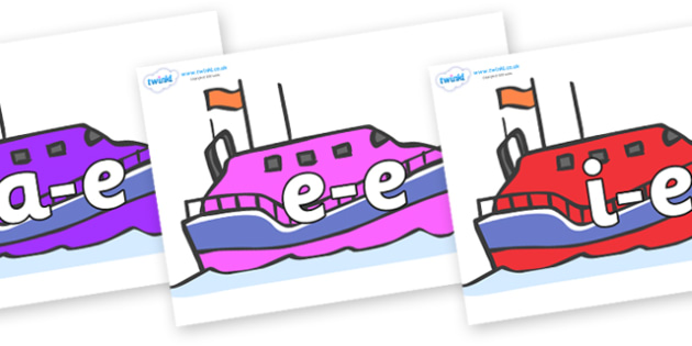 Modifying E Letters on Lifeboats - Modifying E, letters, modify, Phase 5, Phase five, alternative spellings for phonemes, DfES letters and Sounds