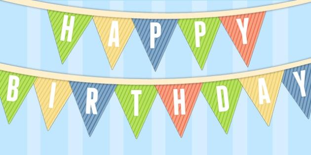 Dinosaur Themed Birthday Party Happy Birthday Bunting - birthdays