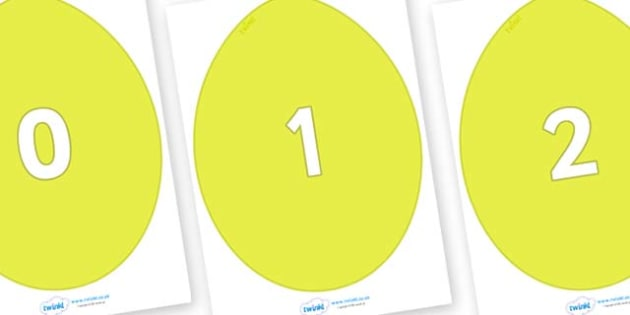 Numbers 0-31 on Golden Eggs - 0-31, foundation stage numeracy, Number recognition, Number flashcards, counting, number frieze, Display numbers, number posters