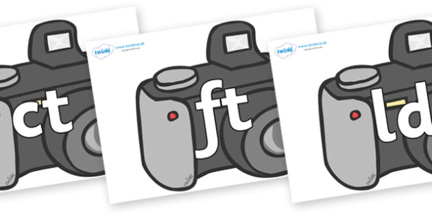Final Letter Blends on Cameras - Final Letters, final letter, letter blend, letter blends, consonant, consonants, digraph, trigraph, literacy, alphabet, letters, foundation stage literacy