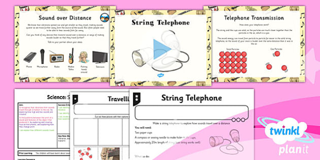 PlanIt - Science Year 4 - Sound Lesson 4: String Telephone Lesson Pack - planit, science, year 4, sound