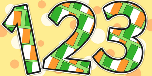 Ireland Themed A4 Display Numbers - ireland, countries, geography