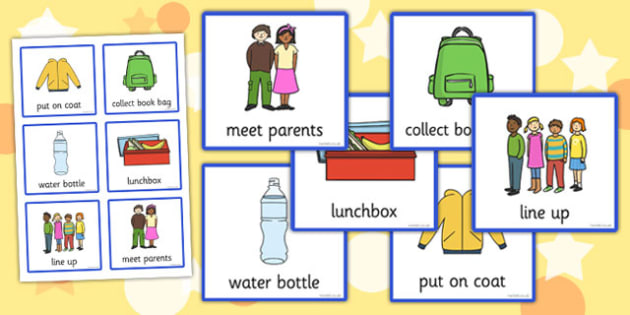 Visual Timetable (Going Home) - going home, home, Visual Timetable, SEN, Daily Timetable, School Day, Daily Activities, Daily Routine KS1, bag, parents, line up