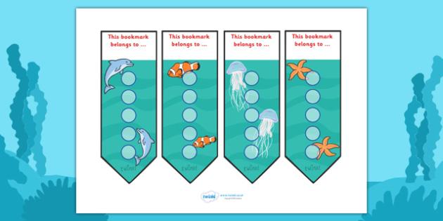 Under The Sea Sticker Reward Bookmarks (15mm) - Under the sea sticker Reward Bookmarks (15mm), under the sea, reward bookmarks, bookmarks, reward, 15mm, 15 mm, stickers, twinkl stickers, award, certificate, well done, behaviour management, behaviour,